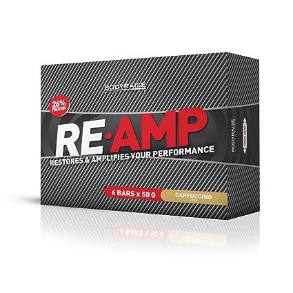 Bodyraise Re-Amp Protein Bar - Paquete de 6 x 50 gr - 300 gramos