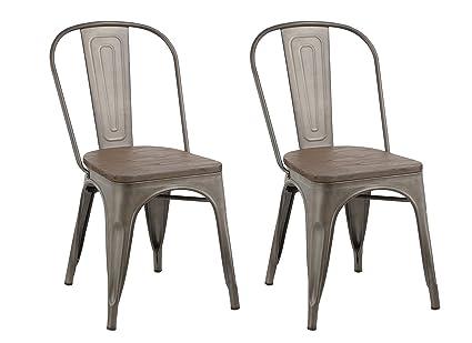 Pleasing Amazon Com Btexpert Industrial Metal Vintage Tabouret Squirreltailoven Fun Painted Chair Ideas Images Squirreltailovenorg