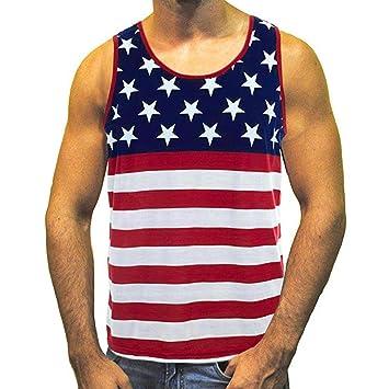 WWricotta Camisetas Hombre Originals Sin Manga Estrella Rayas Gimnasio Deporte Slim Fit Streetwear Camisas Casual Sudaderas Chaleco de los Hombres: ...