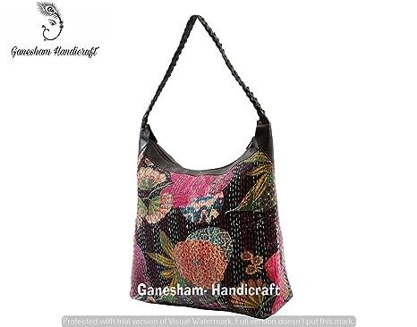 Bolso de mano bolsas de hombro hecho a mano indio bohemio kantha algodón Hippe deporte para ...