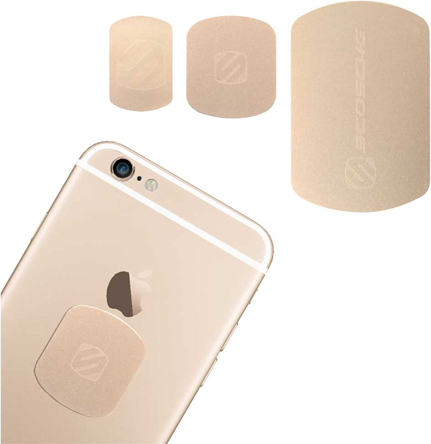 SCOSCHE MAGRKGDI MagicMount Magnetic Mount Replacement Plate Kit for Mobile Devices, Gold