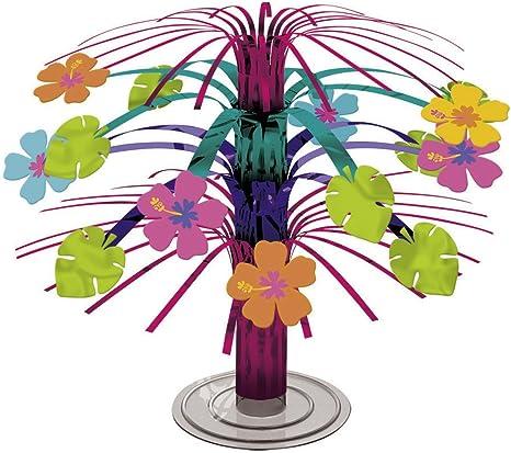 Cascada veraniega para mesa floral Centro de mesa hibiscos ...
