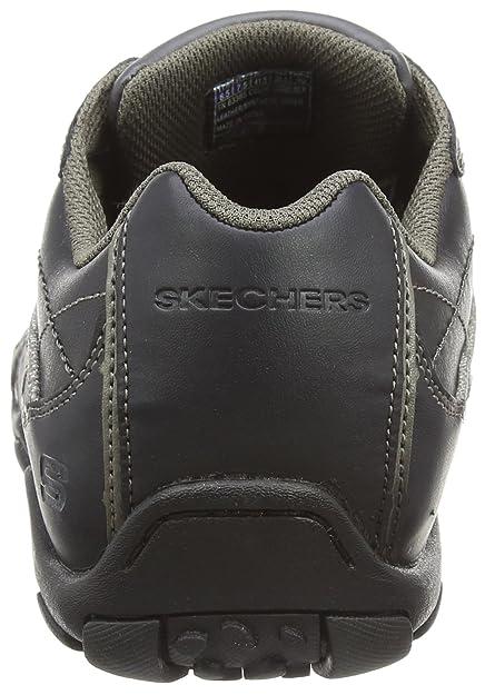 2becc1d4 Skechers Diameter Blake - Zapatillas de cuero hombre, Negro, 44: Amazon.es:  Zapatos y complementos