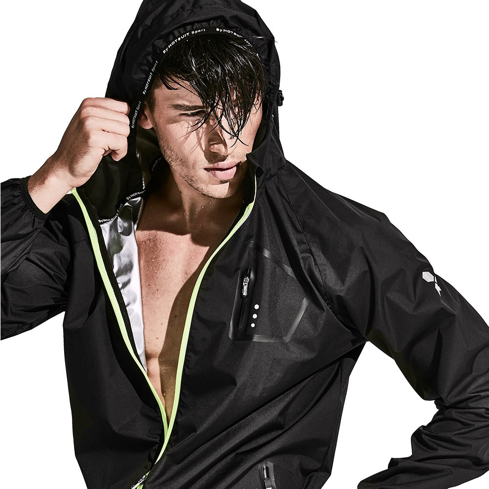 HOTSUIT Sauna Suit Weight Loss Slimming Fitness Gym Exercise Training (Black, Medium)