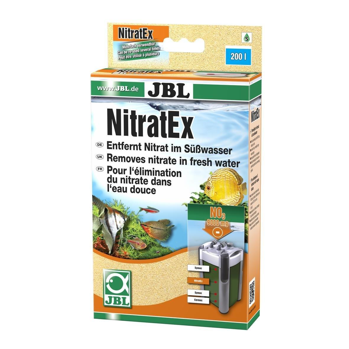 JBL NitratEx, Masse filtrante pour l'élimination rapide des nitrates dans l'eau d'aquarium 250 ml (170 g) neutralisent 9000 mg de nitrates 62547