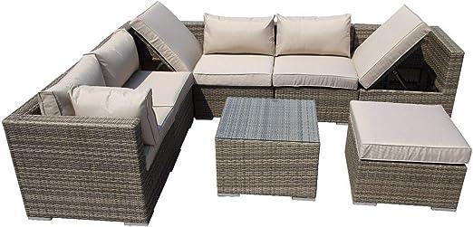 LYQZ Muebles de Invernadero de Mimbre Muebles de jardín de Esquina Muebles de jardín Muebles de jardín de ratán (Color : B): Amazon.es: Hogar