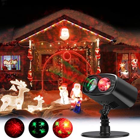 led projector light halloween decorations 2 in 1 moving image with water wave
