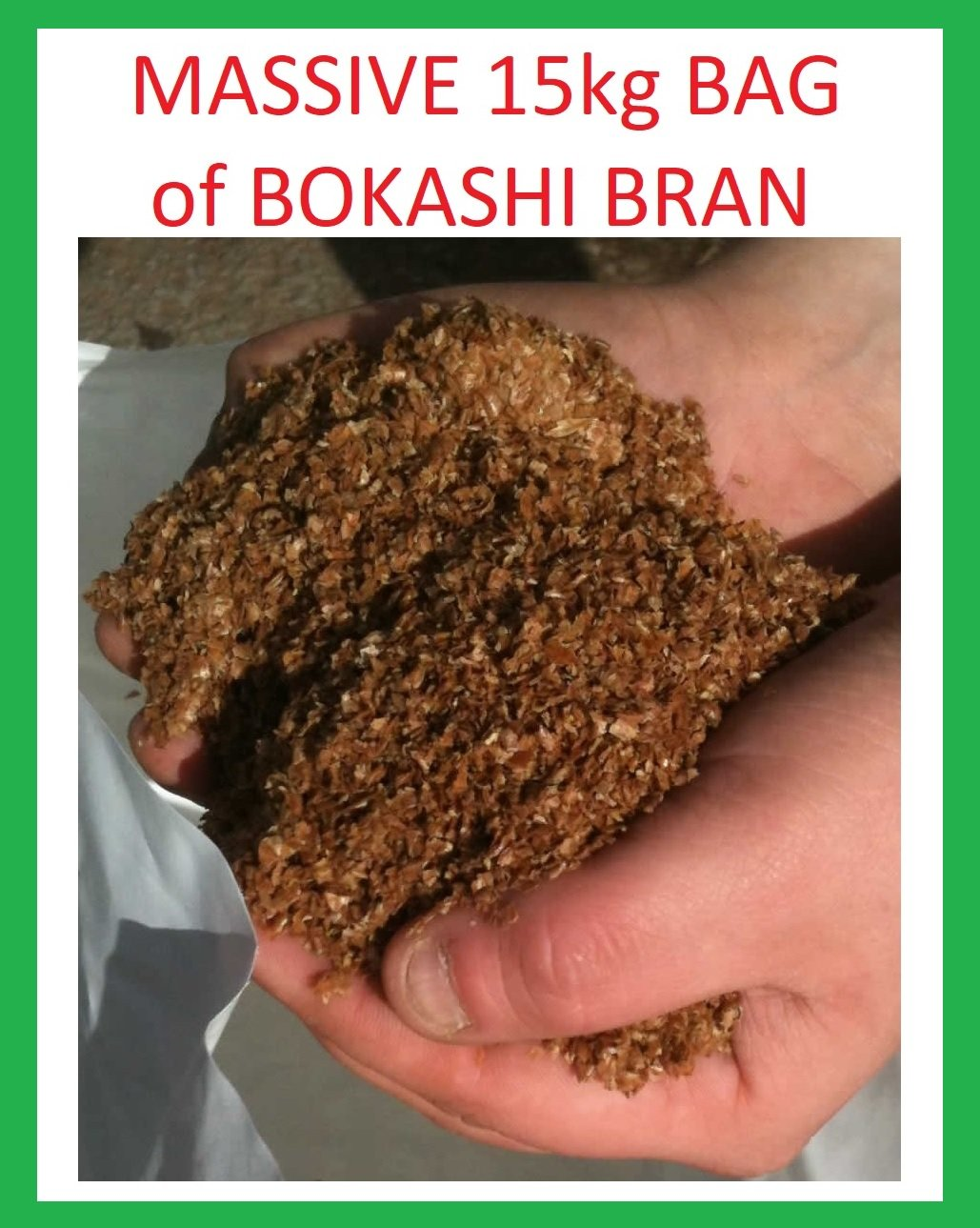 EM Massive 15kg Bag of Bokashi Bran, Extra Value Natural Food Compost Activator, Microbes Enriched