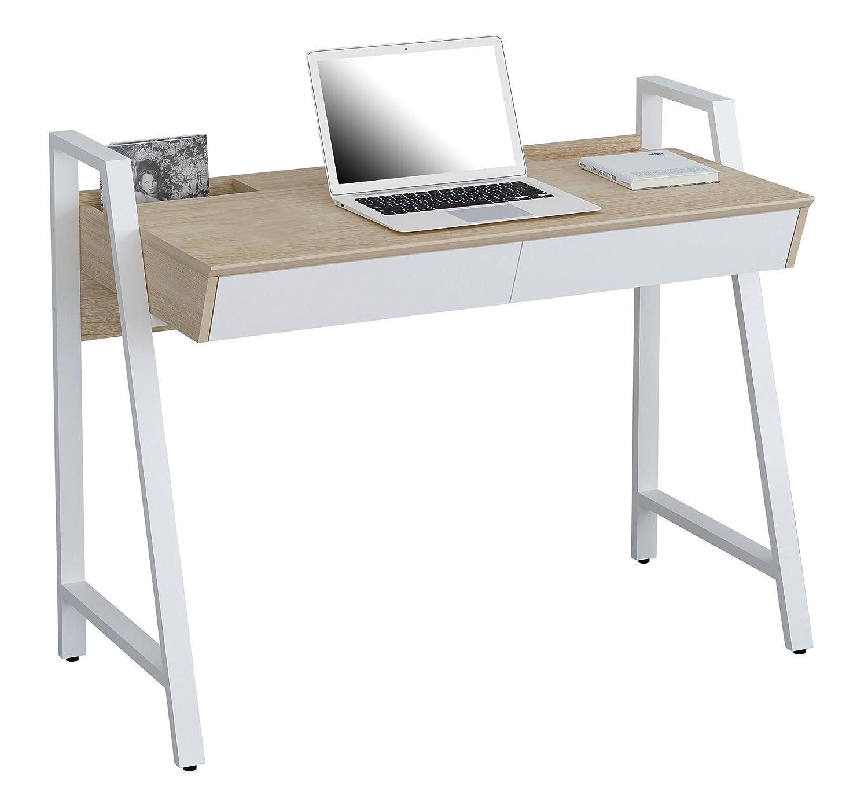 SixBros. Bureau Informatique aspect bois de chêne blanc - CT-3583N-4468