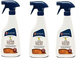 Guardsman Clean & Polish for Wood Furniture - Lemon Fresh - 16 oz - Silicone Free, UV Protection - 461300