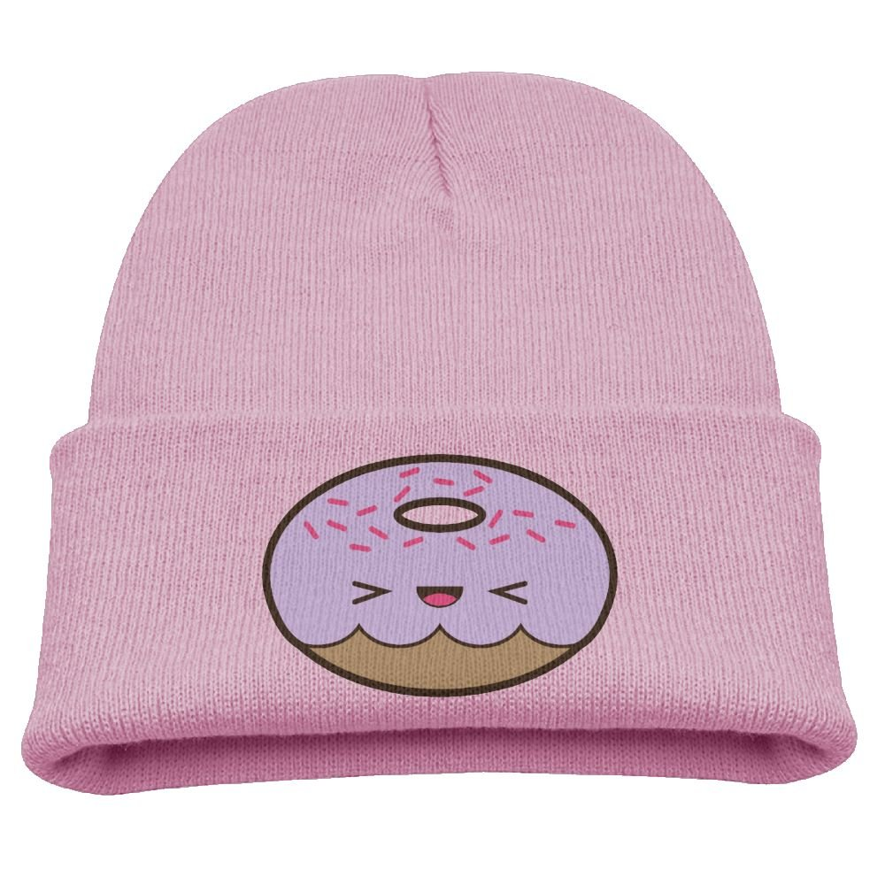 Obachi Cute Kawaii Donut with Sprinkles Unisex Daily Beanie Pink by Obachi