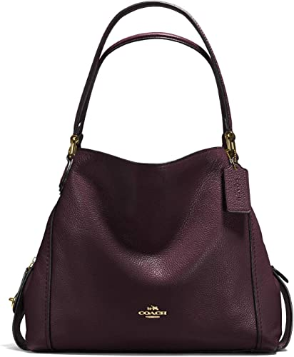 Coach Edie Shoulder Bag 31 Oxblood/Light Gold: Handbags: Amazon.com