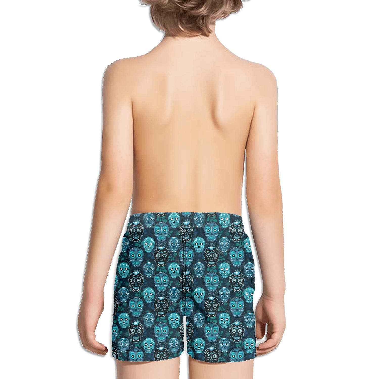 FullBo Vintage Skull Cross Art Little Boys Short Swim Trunks Quick Dry Beach Shorts