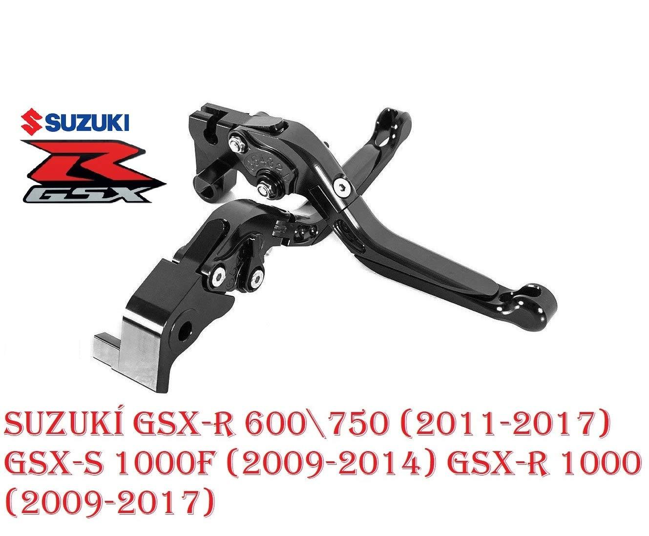 Moto Kit Levier dembrayage et levier de frein pliables extensibles pour GSX-R600//750 2006-2010 GSX-R1000 2005-2006