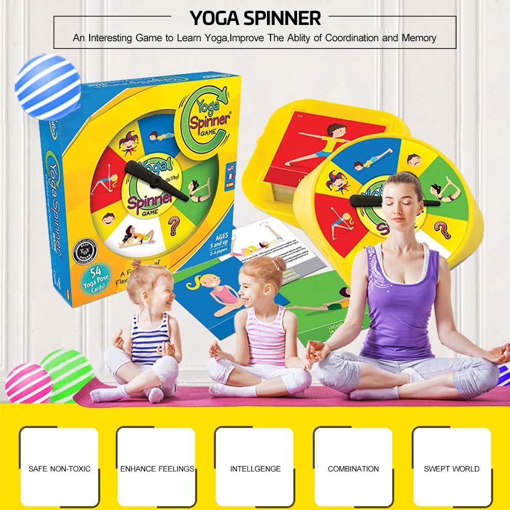 Duokon Tarjetas interactivas de Yoga para niños Juego Interactivo para Padres e Hijos Juego de Mesa de Yoga Ganador del Premio Juego para Amantes de ...
