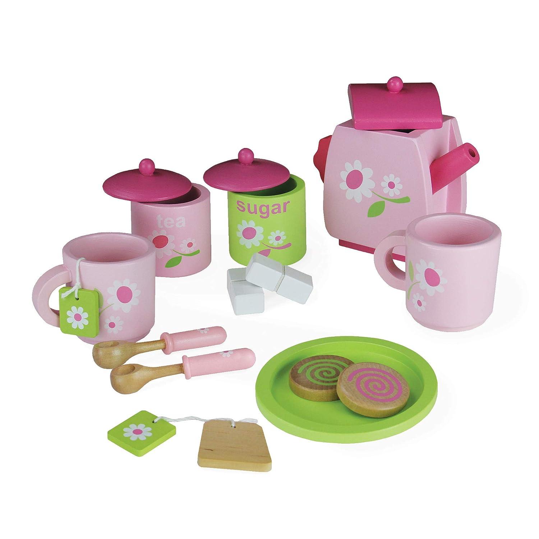 正規 ピンク子供木のおもちゃ茶サービスセット - B07MBPS7N1 安い -、ディスカウント価格キッチンロールプレイ カップティーポットバッグスプーンビスケットを含む14個 B07MBPS7N1, バリュークラブ:31b3ea5b --- svecha37.ru