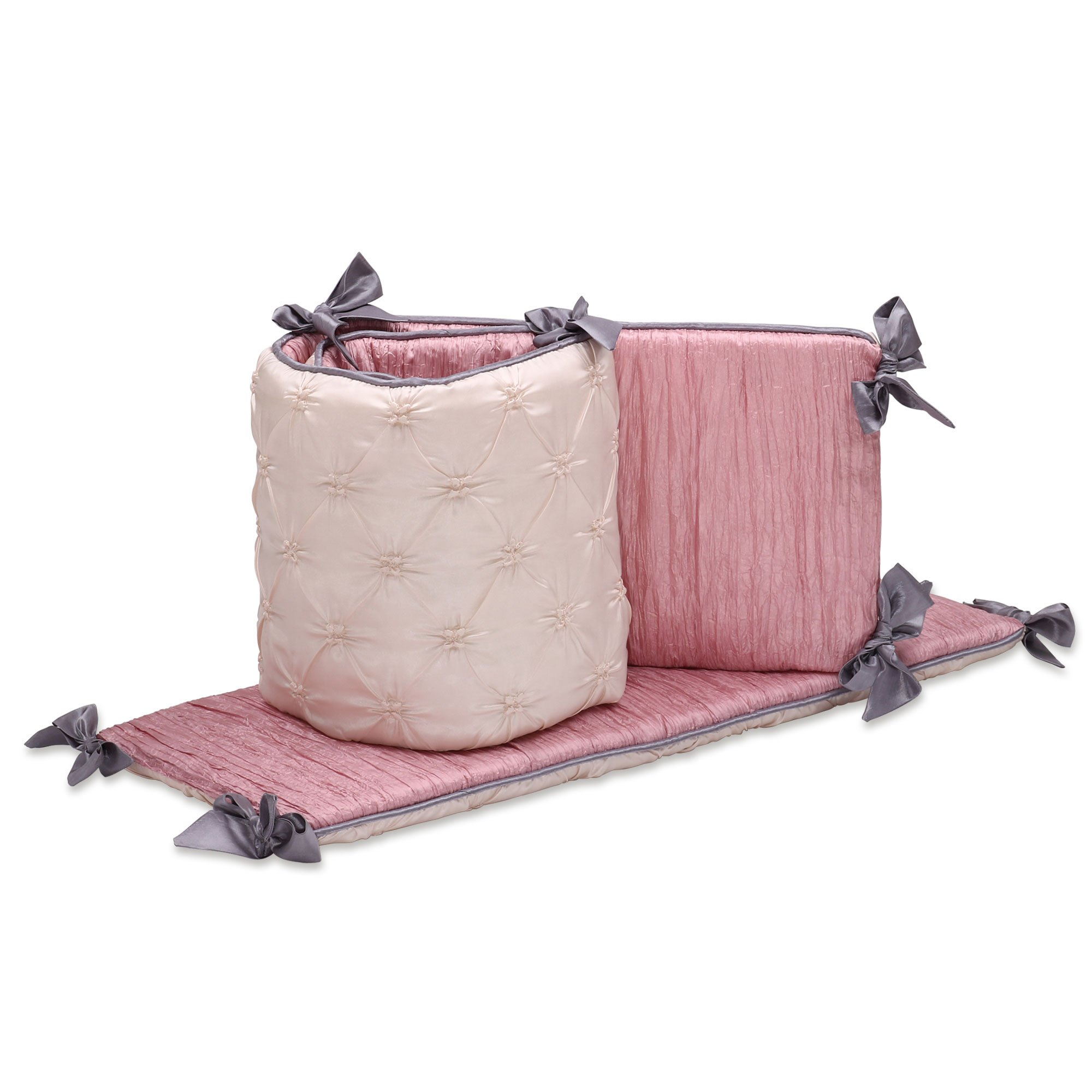 Bella Baby Girl Crib Bumper by The Peanut Shell by The Peanut Shell