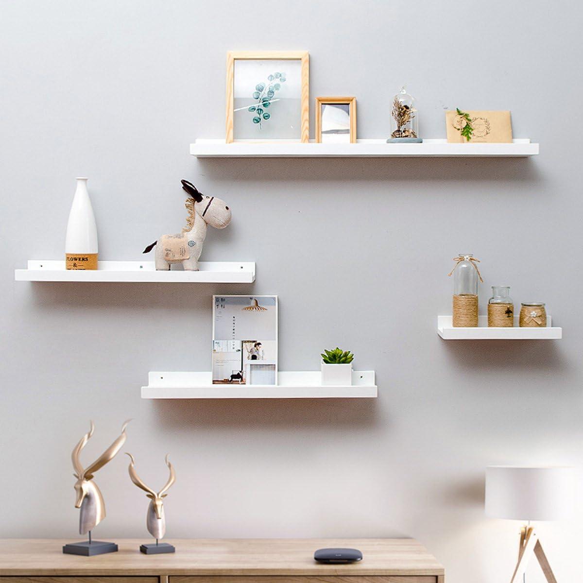 Blanco OUNONA Estanterias de pared flotantes para decoraci/ón de pared hogar