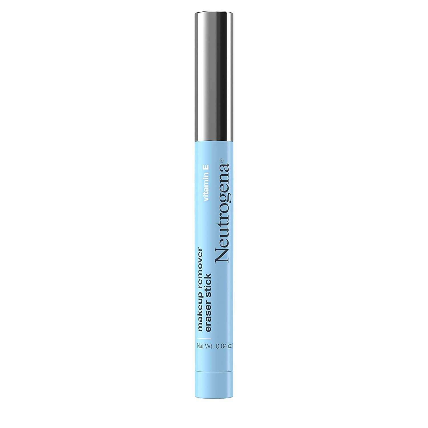 Neutrogena Makeup Remover Eraser Stick with Vitamin E, Easy-to Use & Travel-Friendly Makeup Removing Gel Pen for On-the-Go Touch-Ups of Stray or Smudged Eyeliner, Lipstick, & More, 0.04 oz