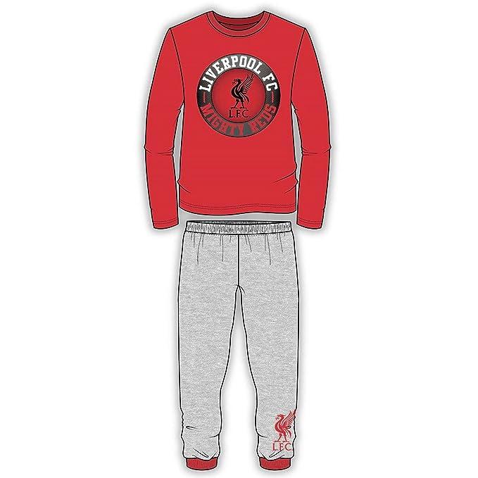 Liverpool FC Pijama Infantil de Manga Larga con Logo (11-12 Años/Rojo