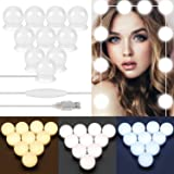 ELEAD Mirror Lights USB Cable Hollywood Style LED Dimmable Vanity Mirror Light with 10 Dimmable Bulbs 3 Color Modes & 10…