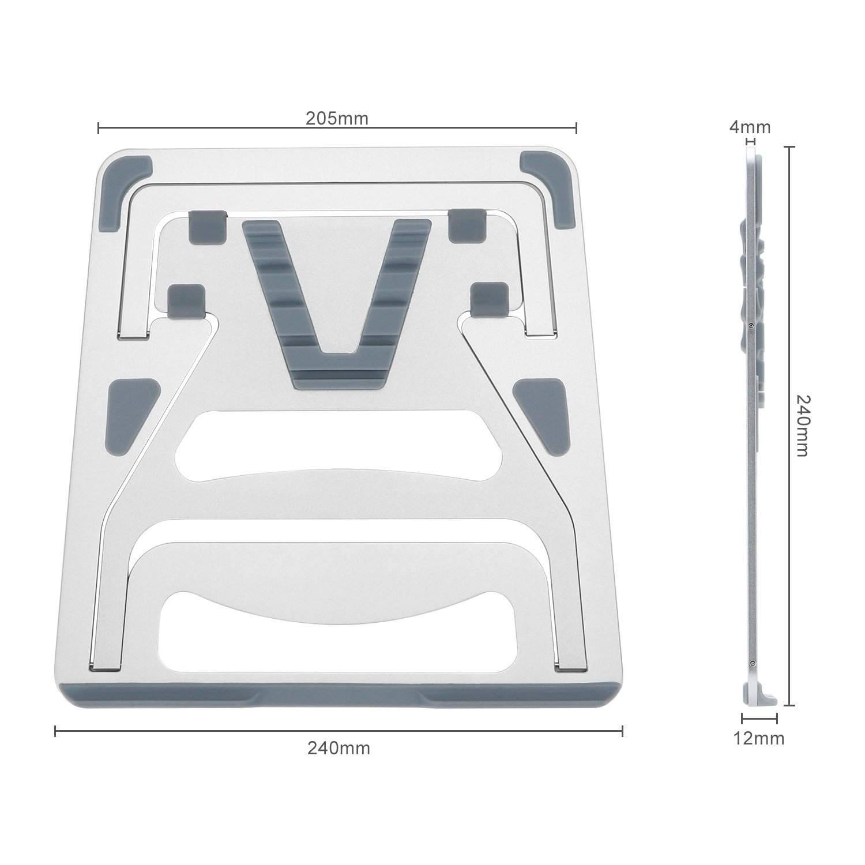 /43,2/cm notebook Sliver Drrot regolabile in alluminio di supporto per 11/