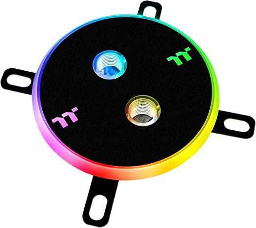 Thermaltake Thermaltake Pacific DIY LCS W4 Plus Software Enabled Circular 12 Controllable LED RGB CPU Water Block CL-W181-CU00SW-A