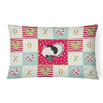 Caroline's Treasures CK5415PW1216 Royal Palm Turkey Love Canvas Fabric Decorative Pillow, 12H x16W, Multicolor : Garden & Outdoor