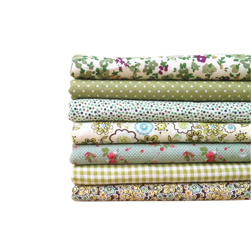 LUFA La tela verde de la serie 7pcs / set empaqueta la tela de ...