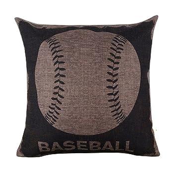 Sukisuki suave ropa de cama de béisbol fútbol impreso lino ...