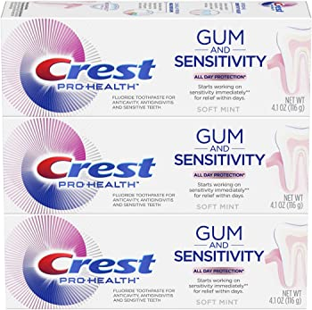 3-Pack Crest Pro-Health Gum and Sensitivity Toothpaste (4.1 Ounce)