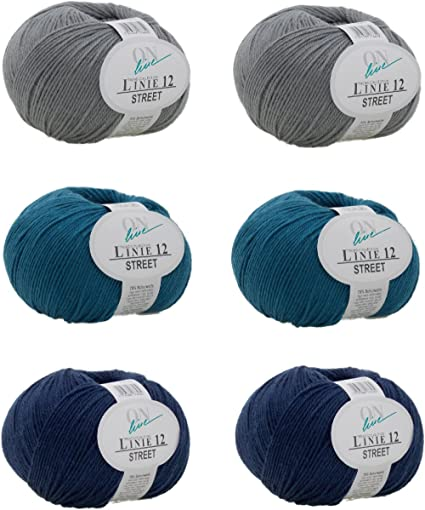 Woll del paquete Online Linie 12 Street Merino Calcetines Lana Uni 6 x 50 g –