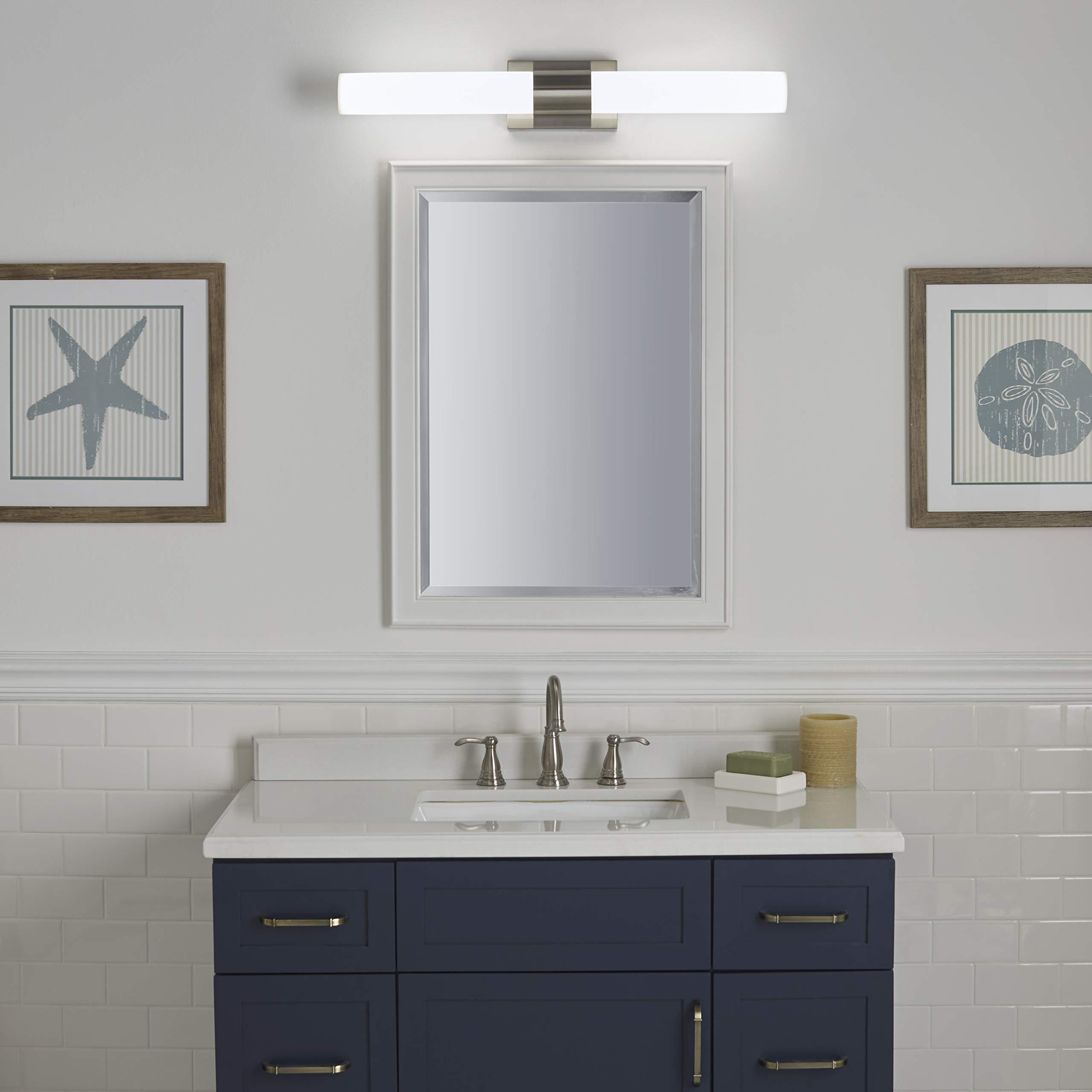 Perpetua 30 inch Integrated LED Bathroom Vanity Lights | Brushed Nickel Bathroom Light LL-SC1043-BN by Linea di Liara (Image #5)