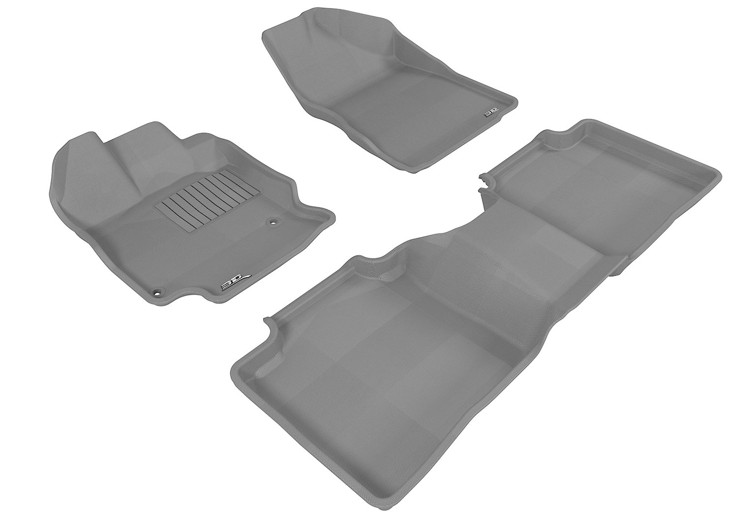Black Kagu Rubber 3D MAXpider Complete Set Custom Fit All-Weather Floor Mat for Select Toyota Venza Models L1TY13401509