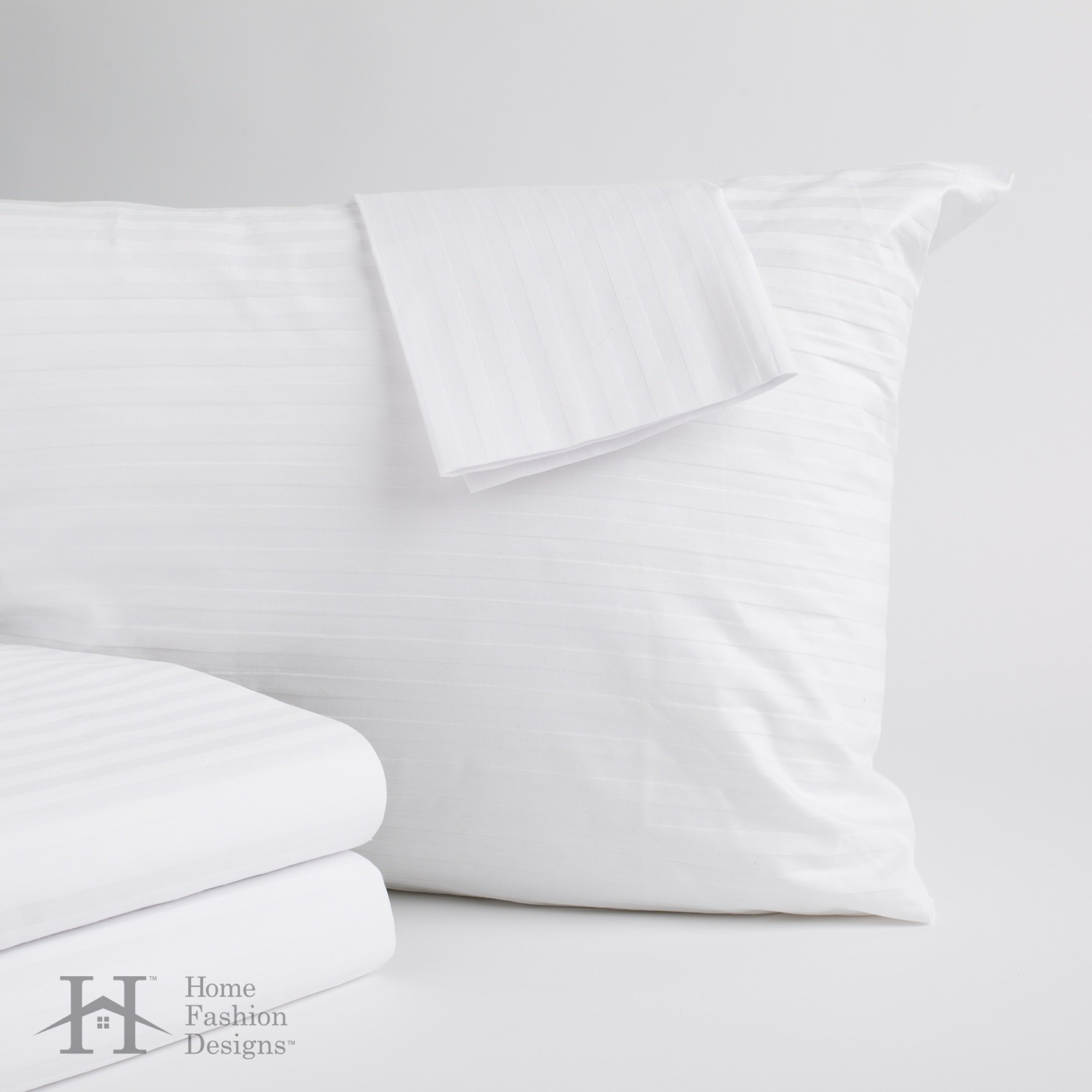 Home Fashion Designs 4-Pack Premium Allergy Protection Pillow Protectors. Hypoallergenic Dust Mite & Bed Bug Resistant Anti-Microbial 400 Thread Count 100% Cotton Zippered Pillow Covers. (Standard) by Home Fashion Designs (Image #1)