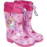 Botas Agua Princesas Disney - Botines Niñas Impermeables Cenicienta Rapunzel Ariel - Suela Antideslizante Fucsia y…