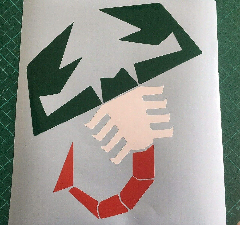 Abarth Aufkleber f/ür Motorhaube und Kofferraum Gr/ö/ße L mit italienischer Flagge