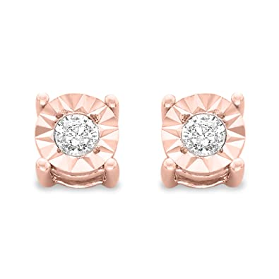 c20d591df Sterling Silver .10ct. TDW Round-Cut Diamond Miracle-Plated Stud Earrings  (J-K,I3)