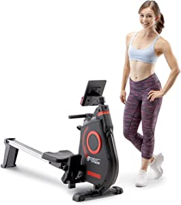 CIRCUIT FITNESS Circuit Fitness Folding Magnetic Rowing Machine - Cardio Body Building Rower AMZ-979RW