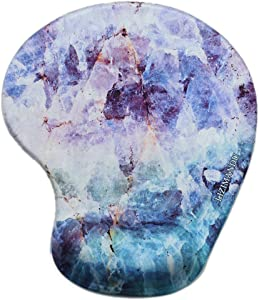 Lizimandu Non Slip Mouse Pad Wrist Rest for Office, Computer, Laptop & Mac - Durable & Comfortable & Lightweight for Easy Typing & Pain Relief-Ergonomic Support (Crystal)