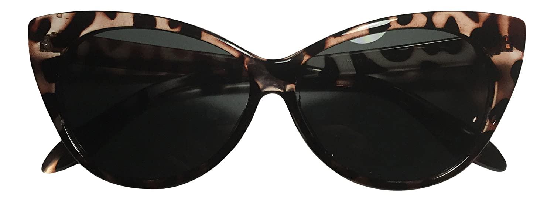 30fb5c9ca073 Amazon.com: Cute Vintage Tortoise Shell Brown Cat Eye Sunglasses - 400UV  Protection - Best Retro 1950's Style Glasses - For Women & Teens: Beauty