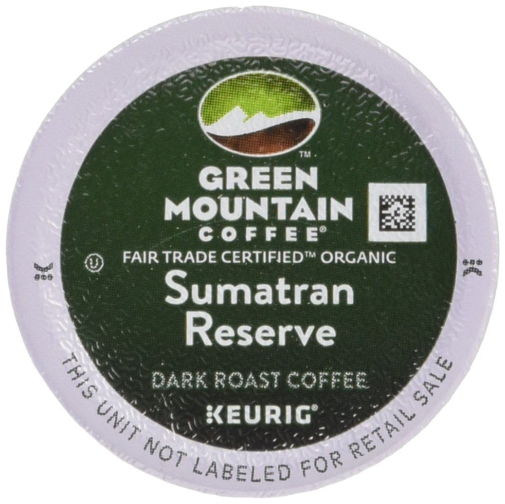 Green Mountain Coffee Fair Trade Organic Sumatran Reserve, K-Cup Portion Pack for Keurig Brewers 24-Count 4060
