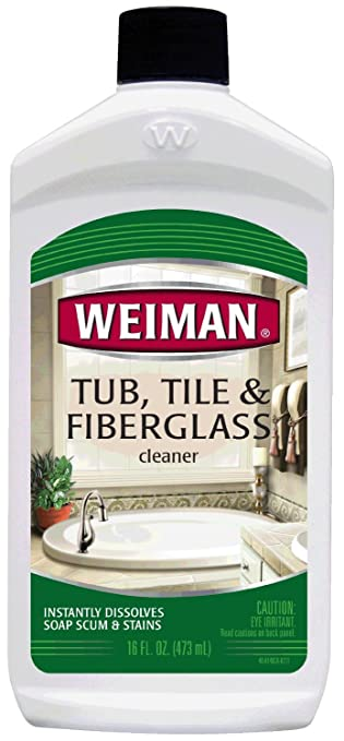 Superb Weiman Tub Tile And Fiberglass Cleaner, 16 Fl Oz, 2 Pack