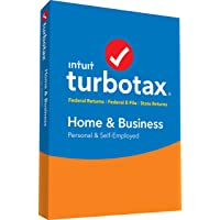 intuit turbotax Home & Business 2017 FED + efile + Estado PC/Mac Disco