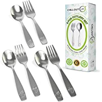 6 Piece Stainless Steel Kids Silverware Set - Child and Toddler Safe Flatware - Kids Utensil Set - Metal Kids Cutlery…