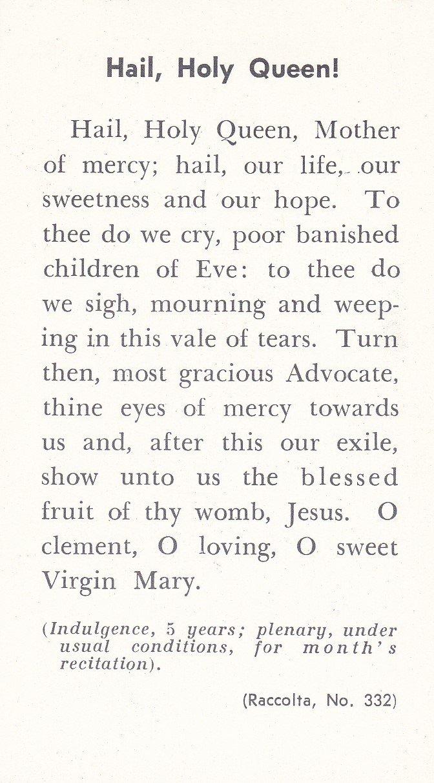 Virgin of virgin hail holy queen