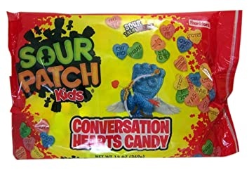 Amazon Com Sour Patch Kids Conversation Hearts Valentine S Day