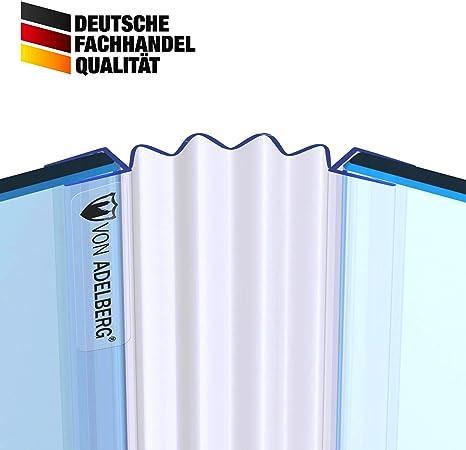 Duschdichtung Gerade PVC Ersatzdichtung Wasserabweiser Duschprofil VA007L