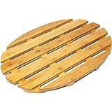 Woodluv Oval Bamboo Duck Board Bath Mat