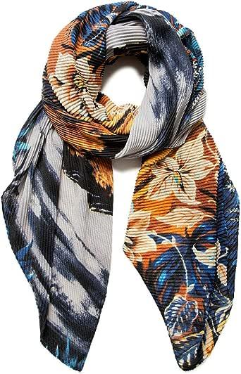 Desigual Foul_mayong Bufanda de moda, Blue, U para Mujer